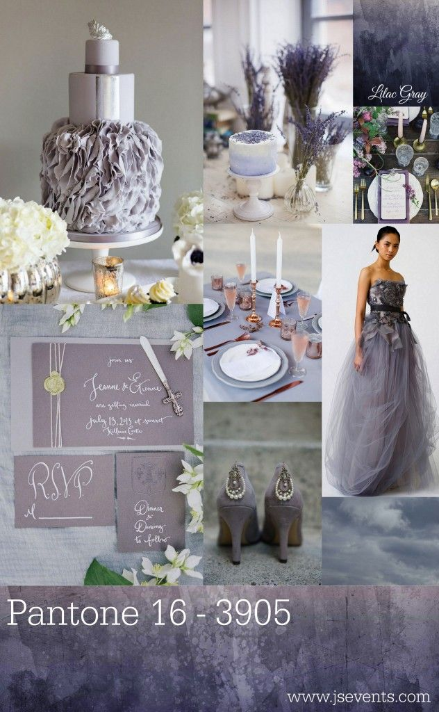 """Following up Pantone's """"Fashion Color Report Spring 2016"""", Jessica Swagman—a Michigan based wedding and event planner—presented Lilac Gray in her blog as one of the 2016 Color Trends. She put together a collage of photos featuring Lilac Gray and included my photograph """"Shades of Grey"""" from the """"Shades of Grey and Lilac""""-Collection. Check out JS's blog and make sure to watch the """"Shades of Grey and Lilac""""-slideshow on my website at http://www.bygabrielegolissa.com/shadesofgreyandlilac."""