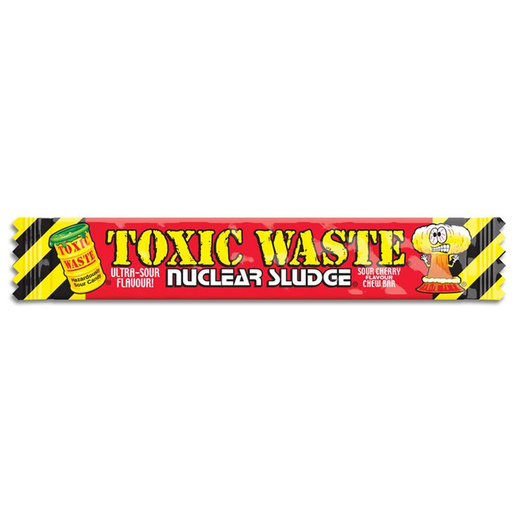 toxic waste sour cherry flavour chew bar from 5 bars to 50 bars