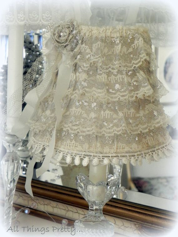 Victorian shabby romantic laces lampshade with by mercedesDscott