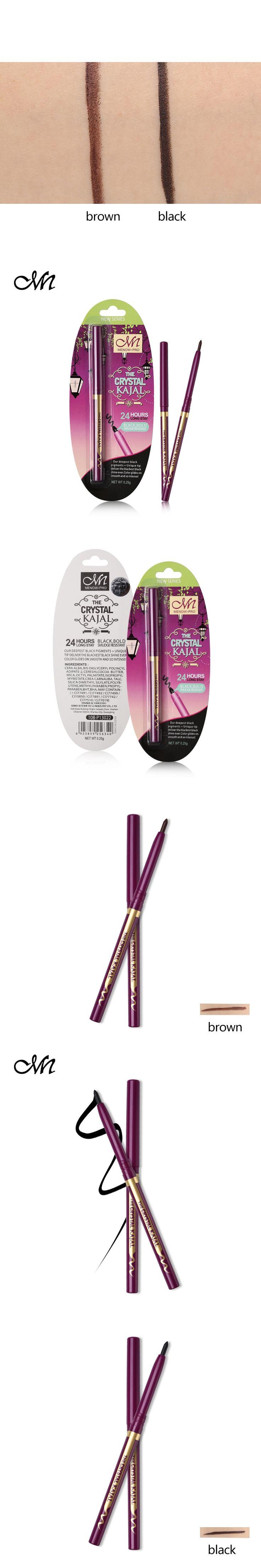 Menow Brand Pro Gel Eyeliner Pencil 24H Waterproof Lasting Makeup Smudge-proof Smoky Pigment Black Eye Liner Pen Automatic Tools