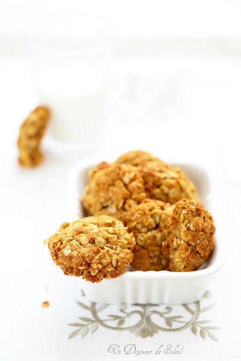 Un dejeuner de soleil: Biscuits aux flocons d'avoine et miel façon Anzac