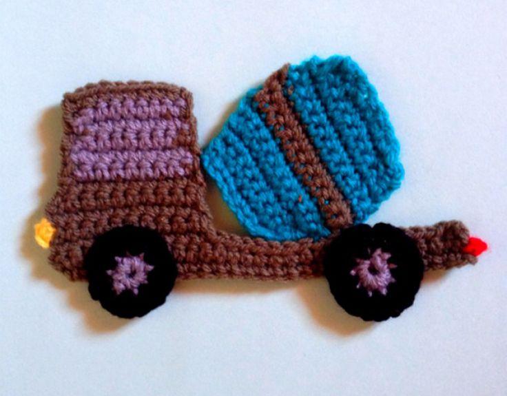 Crochet a Cute Concret Mixer Truck Applique | Guidecentral, free pattern
