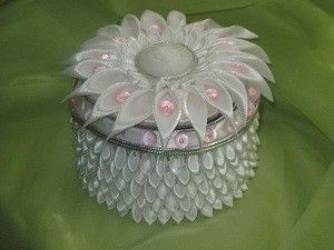 Beautiful kanzashi jewelry box.