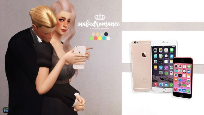 Accessory Iphones (new, random models) at In a bad Romance via Sims 4 Updates