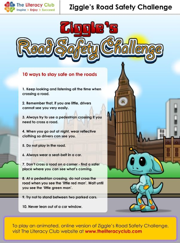 Road safety game - Stay safe on the road and promote class discussion on road safety rules.