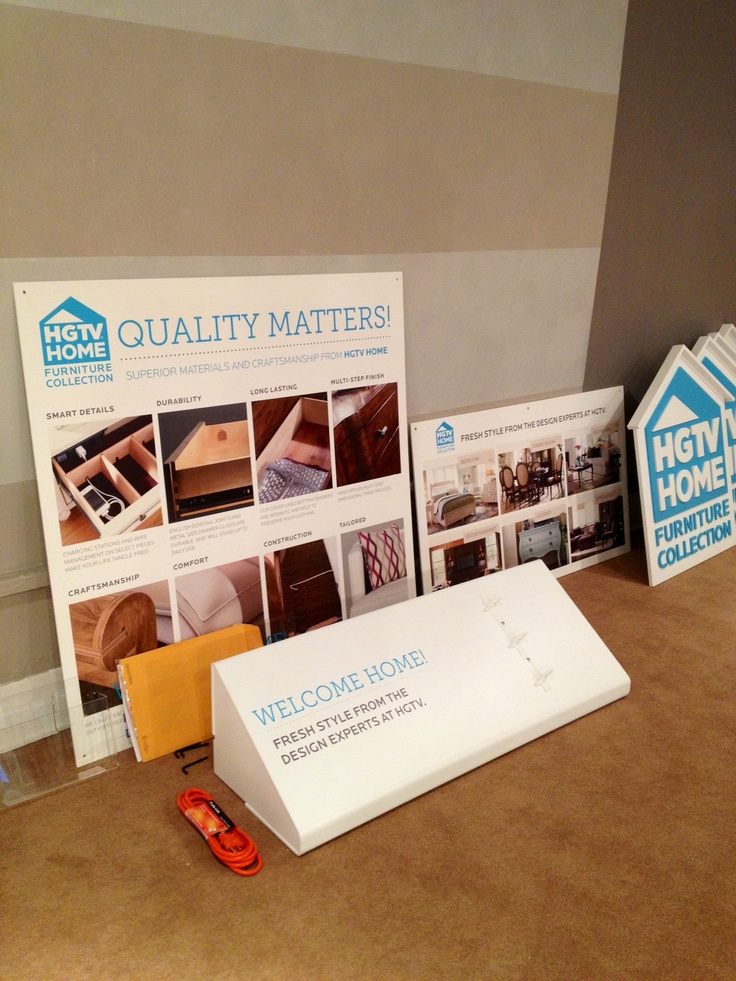 Our Quality Signage Is In! Furniture CollectionHgtvSignage