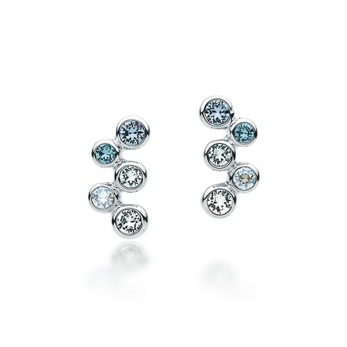 Fidelity Blue Bubbles Stud Earrings with Swarovski® Crystals