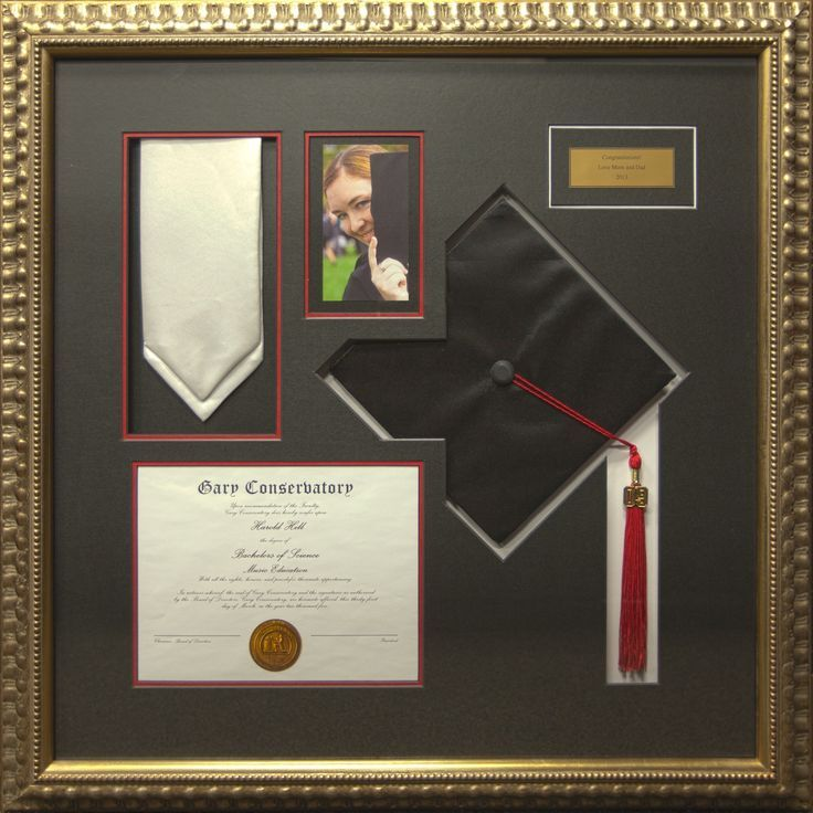 Graduation Cap and Diploma Frame