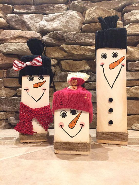 Les 25 meilleures id es de la cat gorie bonhommes de neige en bois sur pinterest bricolage - Pinterest bonhomme de neige ...