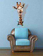 3D TheGiraffe Wall Stickers Vægoverføringsbille... – DKK kr. 151