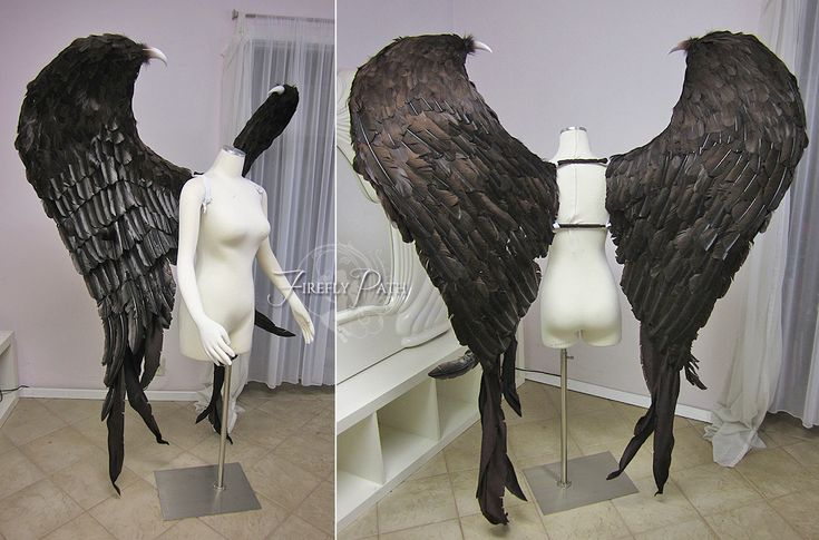 Maleficent Feather Wings by Lillyxandra.deviantart.com on @deviantART