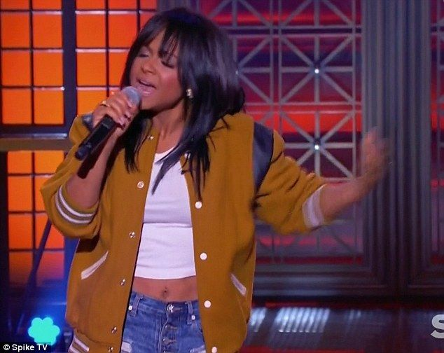 Baby song: Christina Milian opened with the Justin Bieber song Baby on Thursday as she competed against Josh Peck on Lip Sync Battle