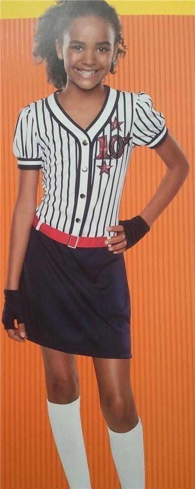 Baseball Team Halloween Costume Li'l Superstar Girls Dress Gloves Size 4 to 6  #Unbranded #Dress