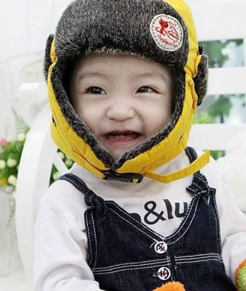Winter Baby Bomber Hat Girl Boys Faux Fur Snow Caps Keep Warm Patchwork Children Cute Hat With Ears Kid Ushanka Caps sale CP054