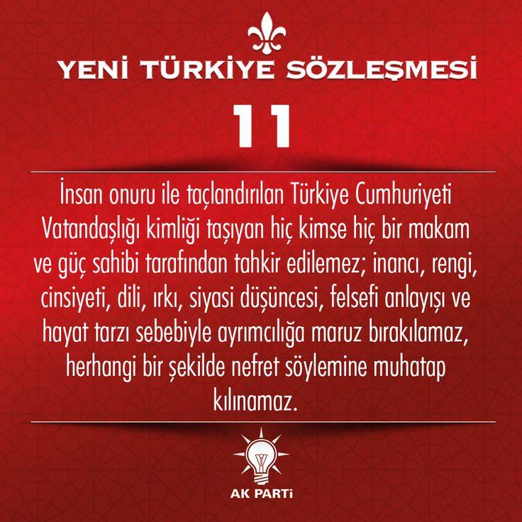 11.Madde, #YeniTürkiyeSözleşmesi