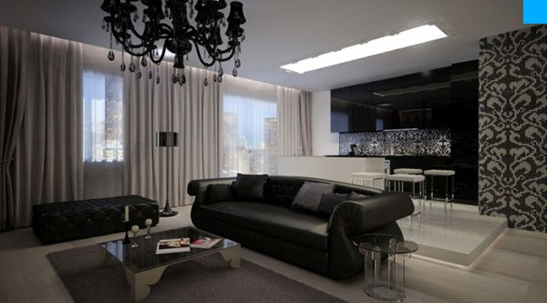 modern baroque apartment in moscow