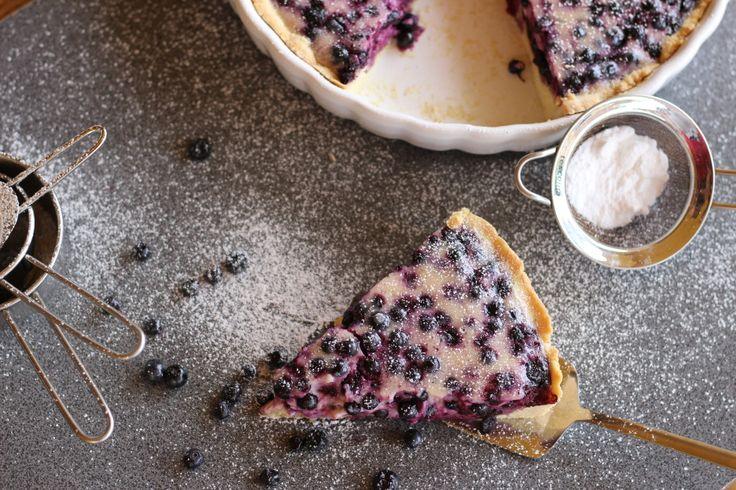 Mustikkapiirakka – Fínsky čučoriedkový koláč