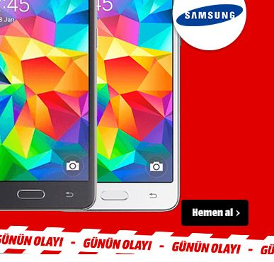 Media Markt, BUGÜNE ÖZEL: SAMSUNG G531 Grand Prime Akıllı Telefon Sadece 649TL