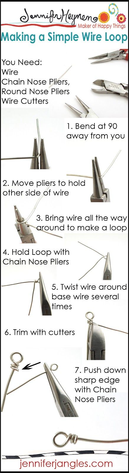 Stacked Ornaments Project and Making A Simple Wire Loop - Jennifer Jangles