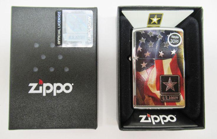 NIB Zippo Lighter Windproof 28930 US ARMY FLAG $30.95 #2946