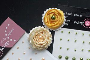 Splitcoaststampers - Tutorials/ rolled ribbon flower embellishment