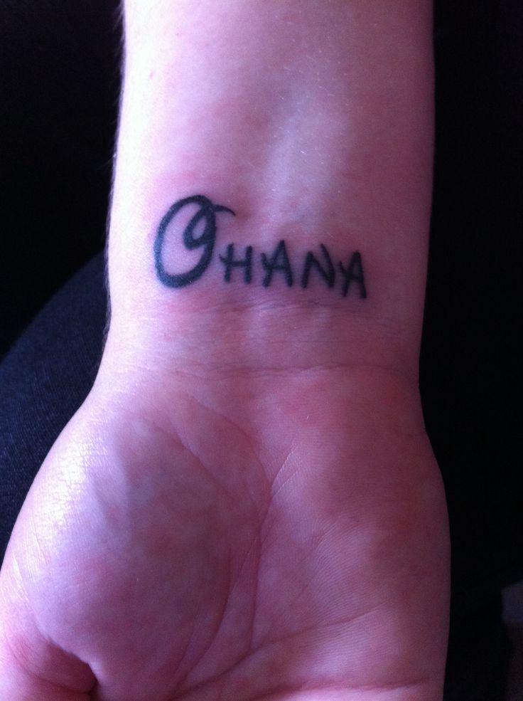 my ohana on my wrist ohana means family in