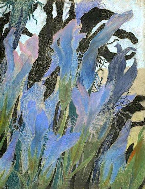 Stanislaw Wyspianski, Irises on ArtStack #stanislaw-wyspianski #art
