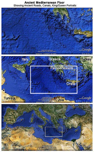 Mediterranean Floor showing ancient Human habitat constructions   Flickr - Photo Sharing!