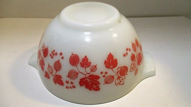 Pink Gooseberry Pyrex 441 Cinderella Nesting Mixing Bowl 1 & 1/2 Pint 1958 Mid-Century Kitchen by ArdentlyVintage on Etsy