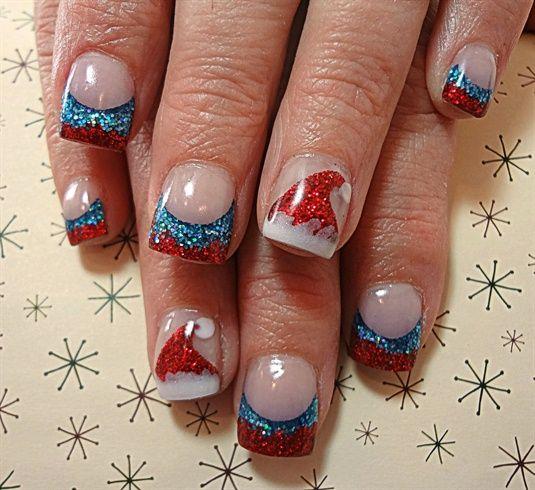 Santa Hats by dcgroves - Nail Art Gallery nailartgallery.nailsmag.com by Nails Magazine www.nailsmag.com #nailart