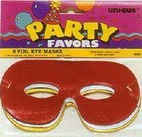 M8603 - Mardi Gras Masks Mask Eye Foil - Pack of 8. Please note: approx. 14 day delivery time.