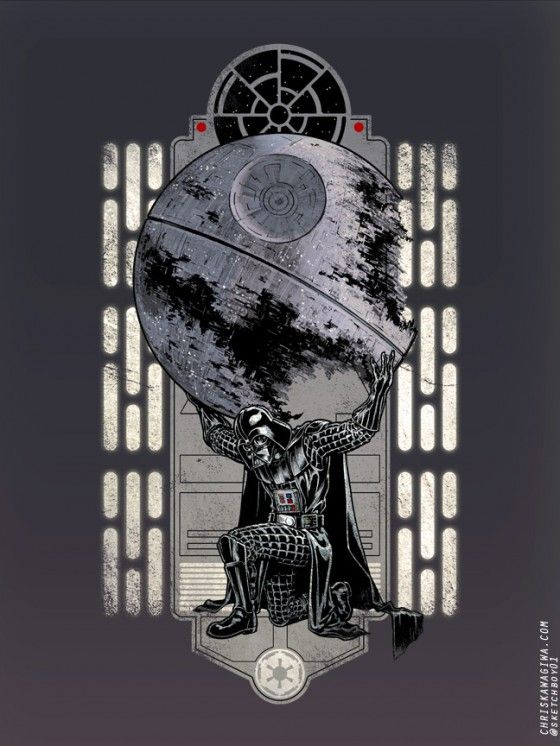 Darth Atlas. Win: Geek, Wars Stuff, Death Star, Darth Vader, Darthvader, Chris Kawagiwa, Star Wars, Darth Atlas, Starwars