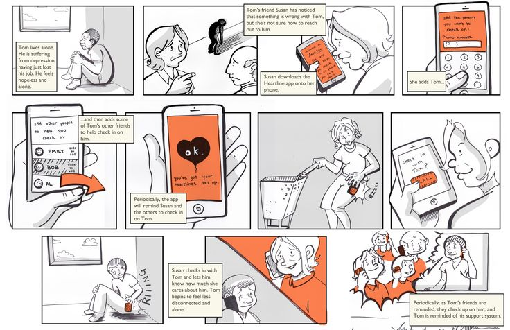 I have been interested in how storyboards can be used to effectively communicate experiences in #servicedesign. This example is by Chelsea Hostetter from the fantastic Austin Center for Design