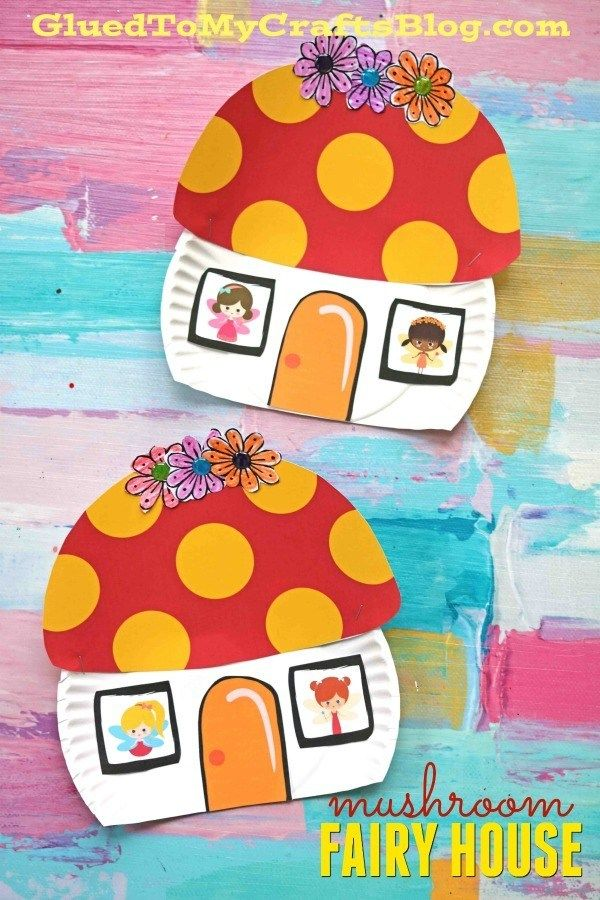 Paper Plate Mushroom Fairy House Kid Craft With Images Fairy