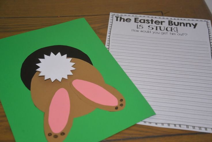 Fabulous in First: Bunny Craft and Writing. Pinned by SOS Inc. Resources. Follow all our boards at pinterest.com/sostherapy/ for therapy resources.