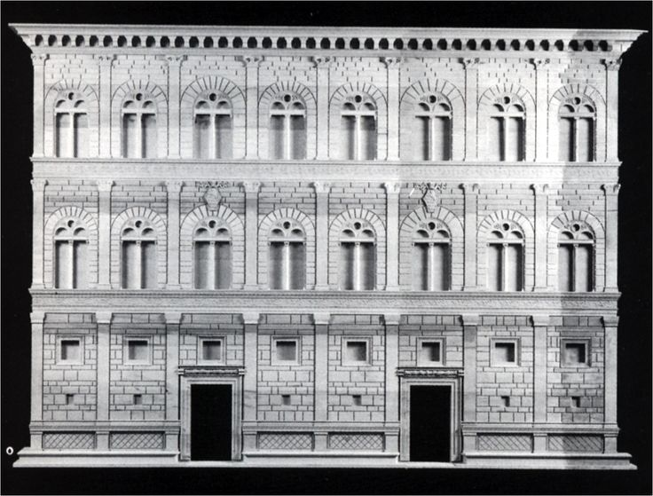 The First Palace Design Displaying The Superimposition Of