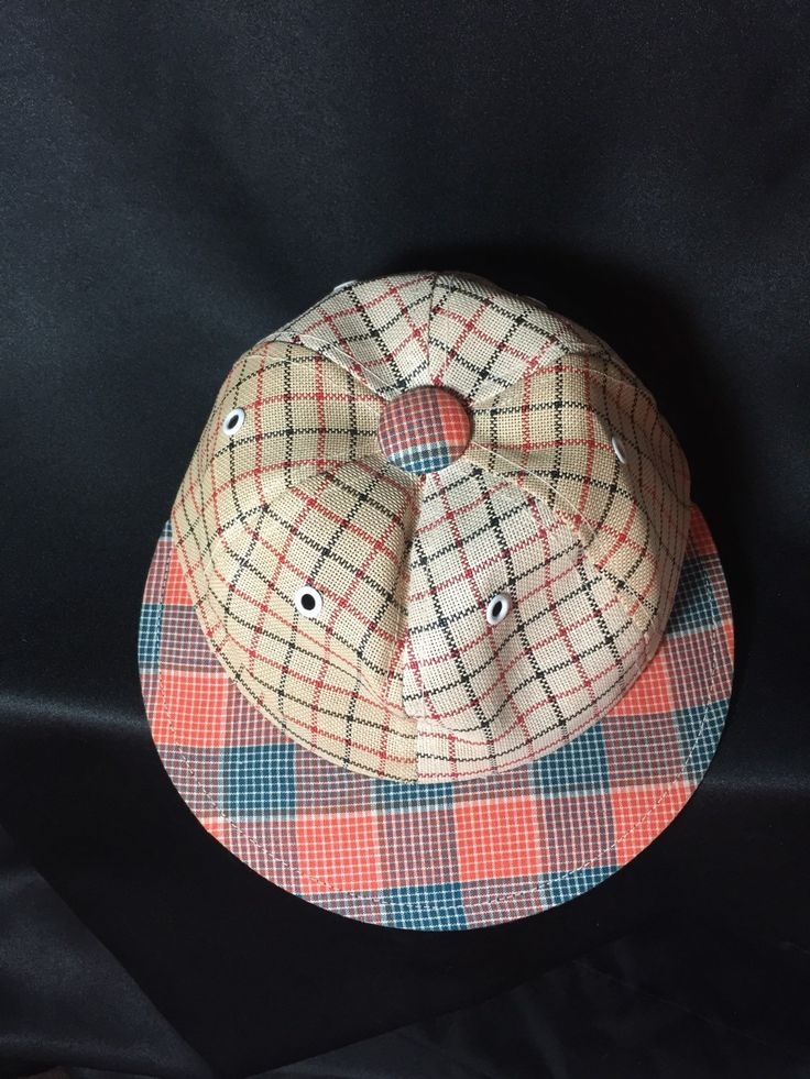 Geek Nerd Cap trucker cap youth L/adult small hat .  Look smart in plaid at a Sci Fi convention by sprecelle on Etsy
