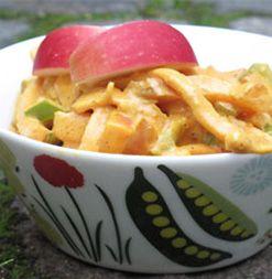 Kasslergryta med äpple och paprika