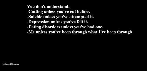 Depressing Quotes About Cutting: Depression Quotes Black And