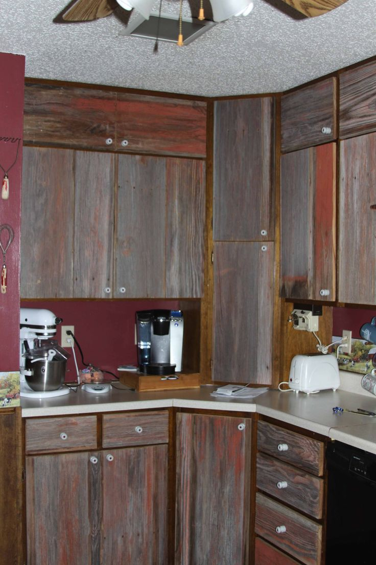 Barn Board Cabinet Doors With Insulators For Knobs