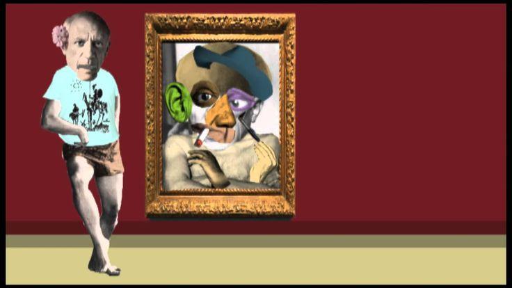 Picasso y Braque explican el Cubismo. Divertido vídeo donde, a partir del collage, se explica el cubismo mediante los personajes de Picasso y Braque.