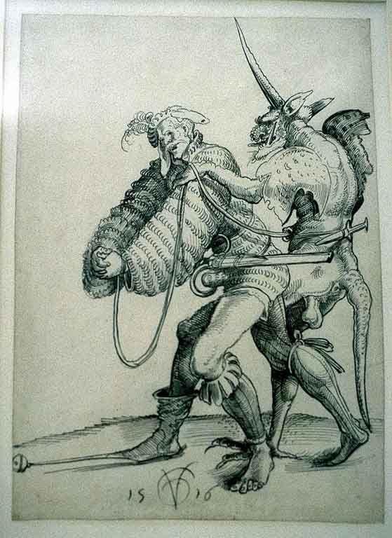 Devil captures a soldier by Urs Graf, 1516