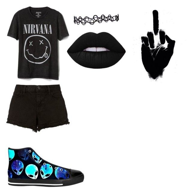"""👽"" by aestheticallyedgy ❤ liked on Polyvore featuring Gap and J Brand"