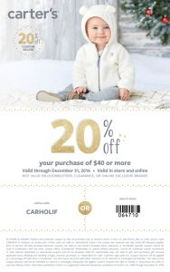 Carter's holiday coupon | Carter's baby clothes | Carter's kids clothes | discount | #lovecarters #ad