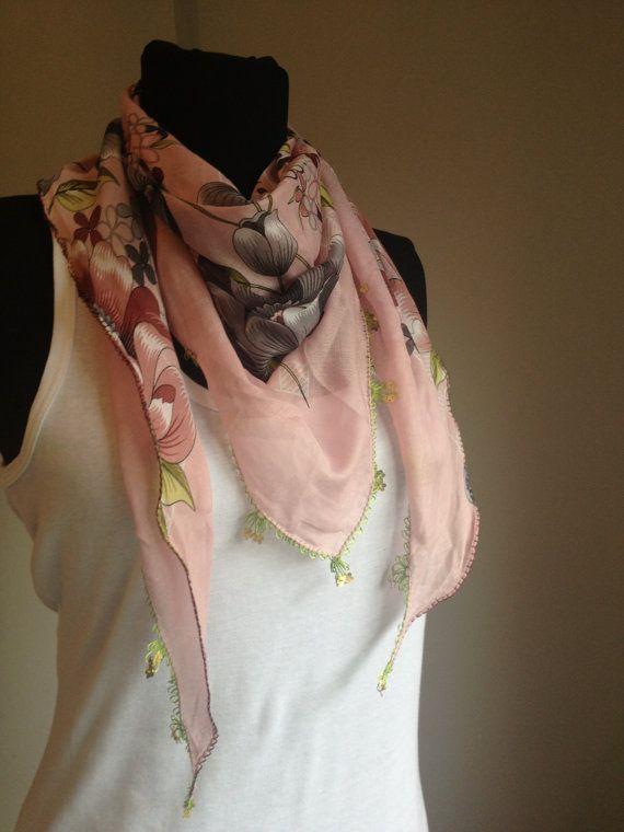 Yemeni scarf triangleOya lace scarf Crochet scarf by katnosia, $9.99