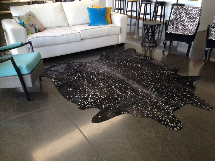 Metallic Silver On Black Cowhide Rug Furrugs Com Cow