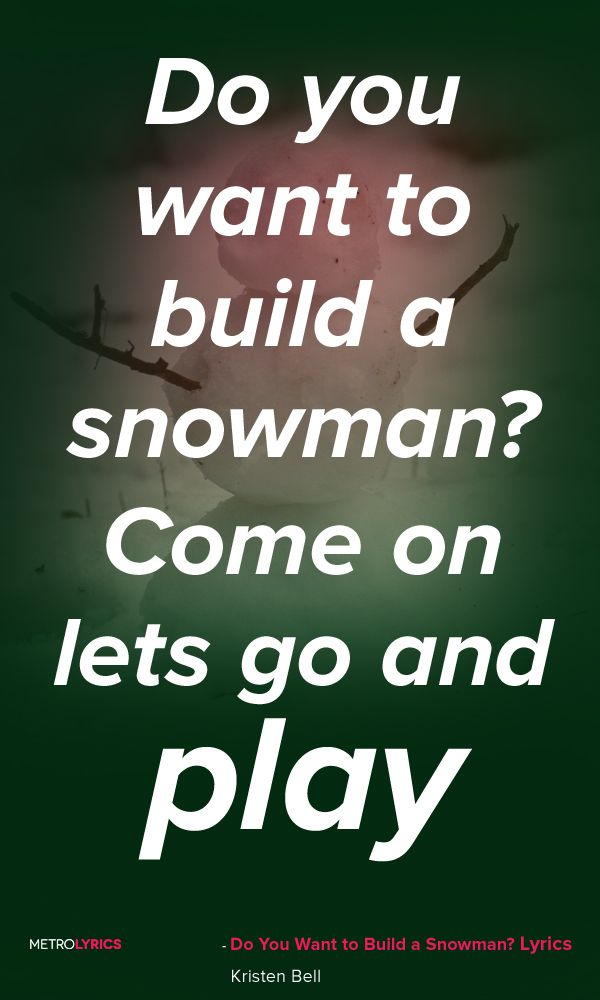 do you want to build a snowman lyrics pdf