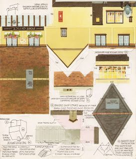 Toys & Stuff: Kellogg's UK Paper Village Sheet 2 Pt 3 - Post Office
