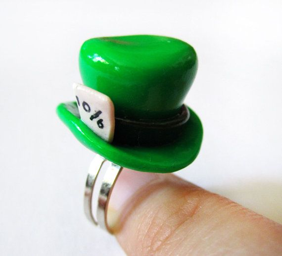 Alice in Wonderland Mad Hatter Hat Ring by MadAristocrat on Etsy, $12.00