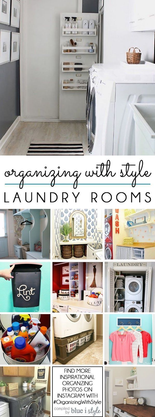LAUNDRY ROOM ORGANIZATION! 12 great tips and tricks for creating a stylish and organized laundry room or laundry closet!